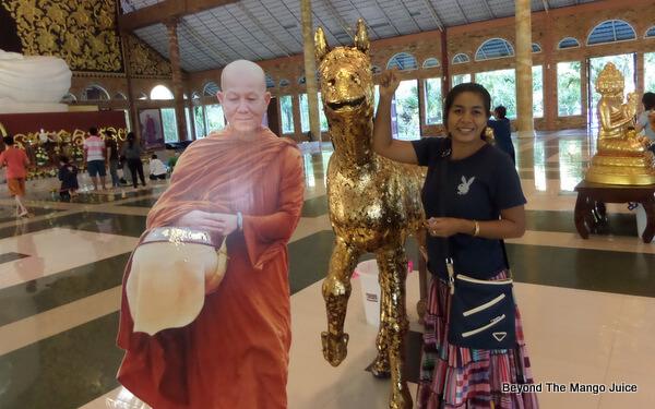 Gold leafed horse at Wat Pa Huay Lad, Phu Rua