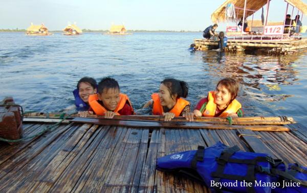 swimming nam pan lake