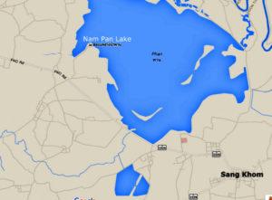 map nam pan lake
