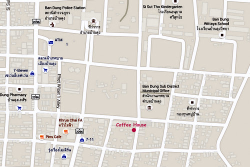 coffee house ban dung map 01